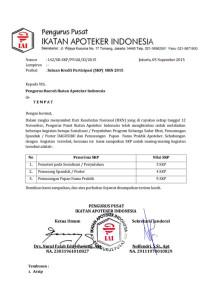 SURAT KEPUTUSAN (142)-SKP Hari Kesehatan Nasional 12 November 2015
